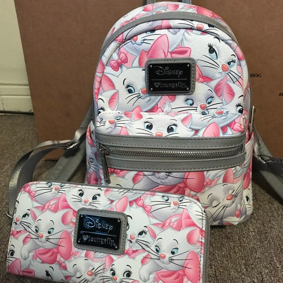 c89005dfbe7 Disney Bags   Marie Loungefly Mini Backpack Matching Wallet   Poshmark